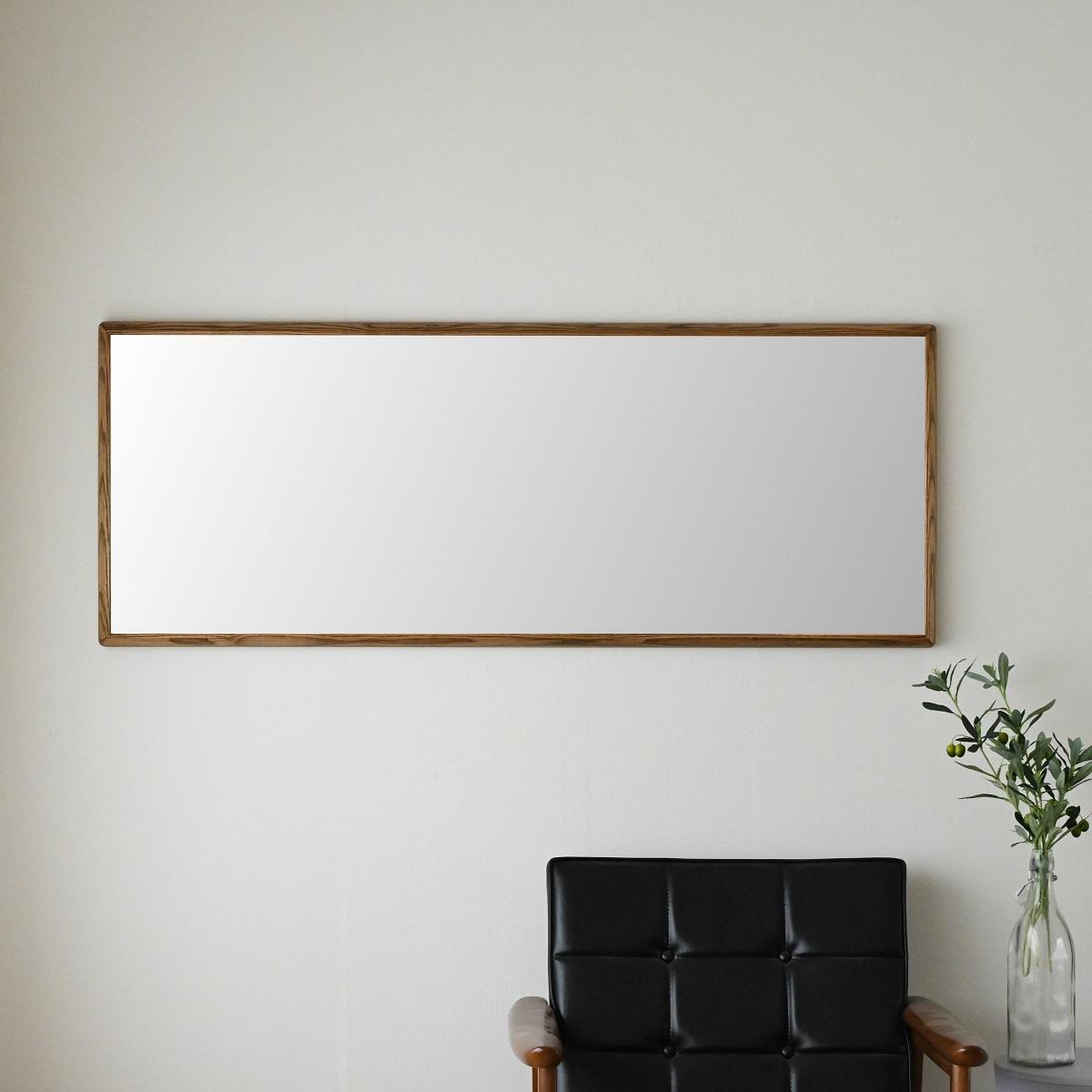 センノキ天然木SENNOKI鏡おしゃれオーダーミラー日本製インスタ全身鏡大型ダンスリブラステラアッシュブラウンウォールナットナチュラル