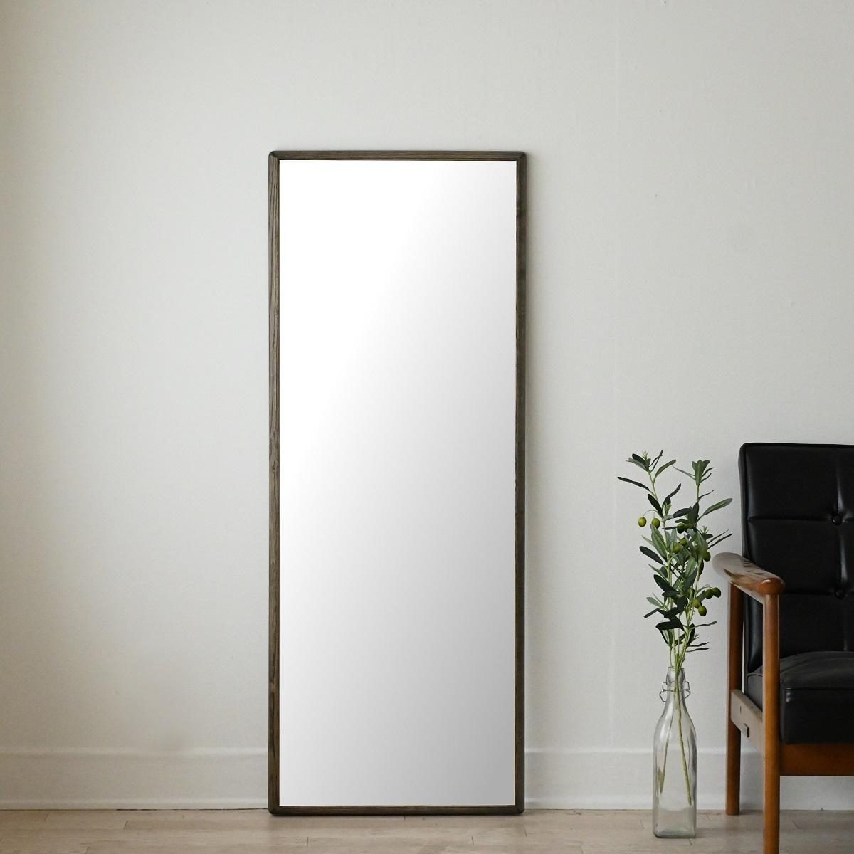 センノキ天然木SENNOKI鏡おしゃれオーダーミラー日本製インスタ全身鏡大型ダンスリブラステラブラックグレー黒