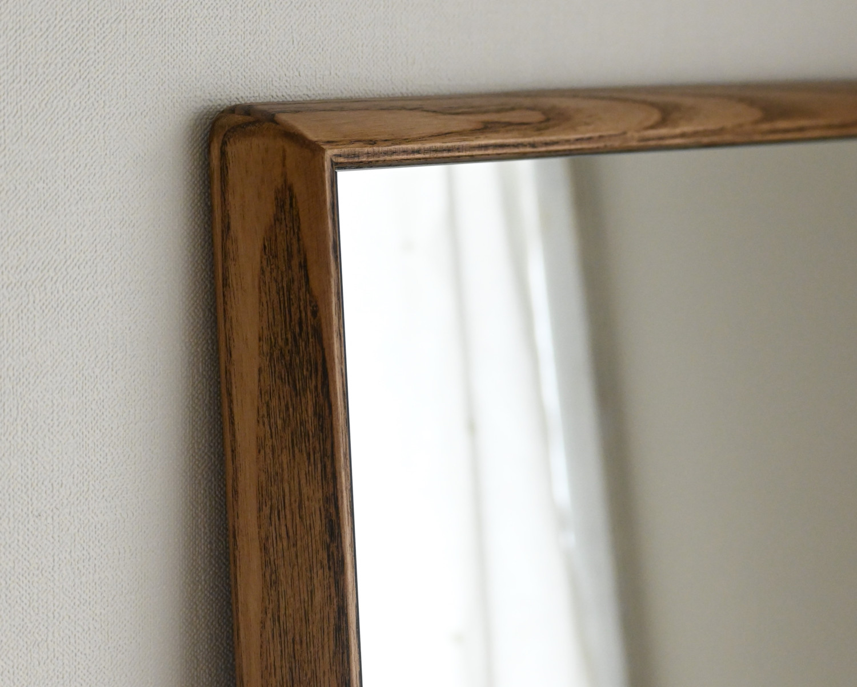 センノキSENNOKI鏡おしゃれオーダーミラー日本製インスタ全身鏡大型ダンスリブラステラアッシュナチュラルブラウンウォールナットオーク